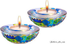 SHABBAT CANDLE HOLDERS CANDLESTICK Jerusalem - Green Design Judaica Israel Gift