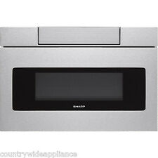 """Sharp Insight Stainless 30"""" Flat Panel Microwave Drawer LCD Display SMD3070AS"""