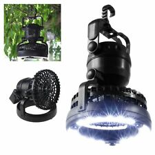Outdoor Camping Sporting Ceiling Fan Cooler 18 LED Light Lantern Design Flexible