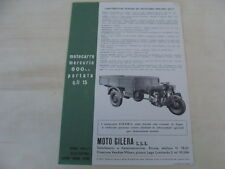 BROCHURE GILERA MOTOCARRO MERCURIO MOTO D'EPOCA MADE IN ITALY OLD