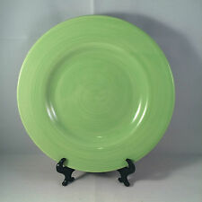 """Tabletops Gallery Playa Green Salad Plate Hand Painted 8 1/4"""" Stoneware"""