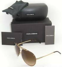 Authentic Dolce & Gabbana Gold Frame / Brown Gradient DG 2075 034/13 63