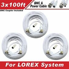 [100ft x3] Premium BNC cable for Lorex LHV828, LHV16212 720P/1080P Systems