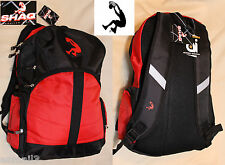 "SHAQ DUNKING, SHAQUIL ONWAL 18"" Laptop Black/Red Dunkman Gym School Backpack"