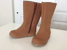 NWT BABY GAP TODDLER GIRLS SIZE 7 TALL RIDING BOOTS IN MEDIUM BROWN/TAN