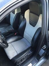 B7 Audi S4 Alcantara Recaro Black/Grey Seats Set Front+Split Folding Rear B6