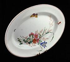 Rare plat en faïence LONGWY Art-nouveau Décor floral et animalier XIXème