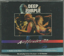 DEEP PURPLE Smoke on the Water MIX & LIVE VIDEO DP Logo ACTUAL SHAPED CD SEALED