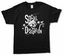 SOCIAL DISTORTION - SKELLY STARS BLACK T-SHIRT NEW OFFICIAL ADULT XS X-SMALL