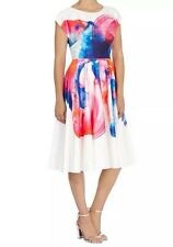 BNWT��COAST �� Size 8 HYPER BLOOM PRINT FLORAL MULTI DRESS 36EU Satin Feel New
