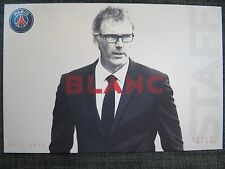 Autographe carte AK Laurent Blanc psg paris st germain 15/16 2015/2016 France
