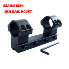 "1"" 25.4mm Ring One Piece High Dovetail Mount Stable See-through 11mm Rail"