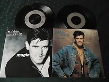 """ROBBIE CRAIG 7"""" SINGLE LOT OF 2 - MAGIC/NOTHING I CAN'T DO"""