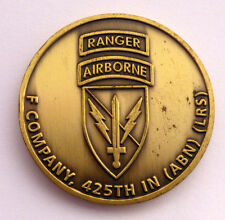 F Company Ranger 425th Infantry Airborne Long Range Surveillance Challenge Coin