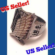 US Seller! Attack On Titan Scouting Legion Regiment Metal Ring Anime Manga Levi