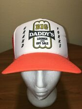 Big Daddy's Lounge And Off Sale Grand Forks, ND Meshback Snapback Hat Orange