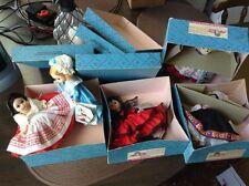 VINTage MADAME ALEXANDER INTERNATIONAL Doll Lot Of 5 Spain 595 584 594