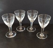 """Vintage 1950's Set of 4 Lead Cut Crystal 4"""" Cordial Glases Balloon Design EUC"""