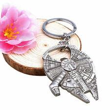 Star Wars Millennium Falcon Silver Metal Alloy Bottle Opener & Keychain Creative