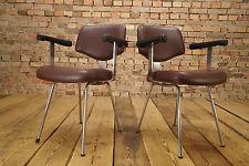 Mid Century Design Bürostuhl Lounge Foyer Stuhl - CHROM Armlehner 60er Vintage