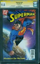 Superman 205 CGC SS 9.8 Jim Lee Gold Signed Dawn of Justice Michael Turner Top 1