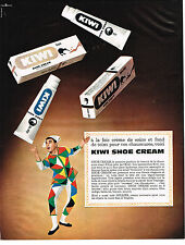 PUBLICITE  1963   KIWI  cirage shoe cream
