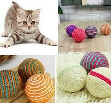 FD1006 Pet Dog Cat Kitten Teaser Playing Chew Rattling Sound Toys Rope Ball 1PC!