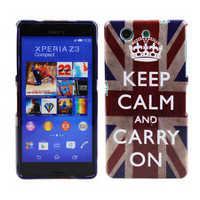 TPU Case Sony Xperia Z3 Compact Schutzhülle Tasche Keep Calm Carry On GB England