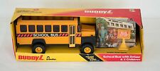 1983 BUDDY-L METAL SCHOOL BUS WITH DRIVER & 2 CHILDREN NEW IN ORIGINAL BOX