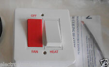 claudgen recessed warm air ceiling heater fan switch with double sided tape