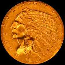 1910 $2.50 Indian Head Gold Ngc Ms62