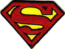 SUPERMAN LOGO--DC COMICS- Iron On  Embroidered Patch/TV, Movie,Cartoons,Justice