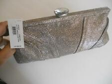 Style & Co. Diamond Clasp Frame Clutch,Champagne MSRP $62