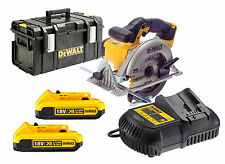 DEWALT dcs391 al Litio Ion CIRCOLARE SAW 18v + 2 dcb183 + dcb105 + ds300 Custodia Rigida