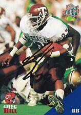 Greg Hill Autograph On A 1994 Classic - Kansas City Chiefs - Free Ship