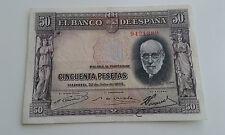 Usado - BILLETE DE 50 PESETAS BANCO DE ESPAÑA - SANTIAGO RAMON  Y CAJAL - 1935
