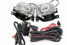 92-95 Honda Civic EH 4 Door JDM Clear Fog Light Kit + Harness LX DX EX