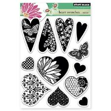 PENNY BLACK RUBBER STAMPS CLEAR HEART SWATCHES NEW STAMP SET 2013