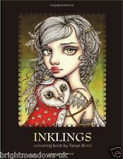 Fantasy Mystical Magic Inklings Adult Colouring Book Creative Art Therapy Relax