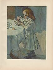 "1956 Vintage CHILDREN ""THE GOURMET"" PICASSO COOKING COLOR Art Print Lithograph"