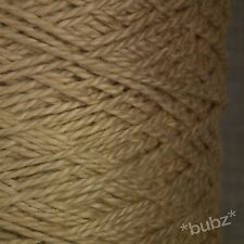 SOFT BEIGE MERCERISED DK / ARAN PURE COTTON YARN 500g CONE 10 BALLS CROCHET KNIT