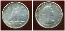 CANADA 10 cents  1963  ARGENT