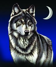 Brand new  wolf print Queen size summer blanket