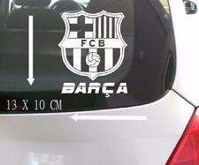 2pc Vehicle FUN decal FC Barcelona Internal Car window Sticker White
