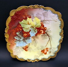 Lovely Hand Painted GDA Limoges Imperial Currants Charger Plate Early 1900s