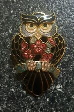 Cloisonne Brooch Pin - Fish and Crown - Bird Owl