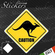 Adesivo Stickers Segnale Sign  CANGURO Caution a bordo auto moto
