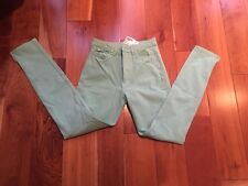 American Apparel Teal High-waist Side Zip Pants Size 24/25