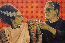 Made for Each Other by Mike Bell Tattoo Art Print  Monster Bride of Frankenstein