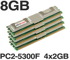 8GB (4x2gb) DDR2 PC2-5300F 667 MHZ ECC Fully Buffered Server di memoria RAM HP DELL